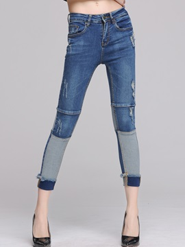 Delicate Patchwork Rough Selvage Jean