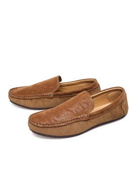 British Suede Slip On Loafers