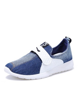 Gradient Color Denim Velcro Casual Shoes