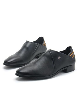 Pu Plain Toe Slip On Dress Shoes