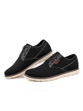 British Pu Thread Lace Up Casual Shoes