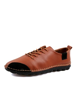 British Pu Lace Up Casual Shoes
