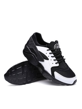 Breathable Color Block Lace Up Sport Shoes