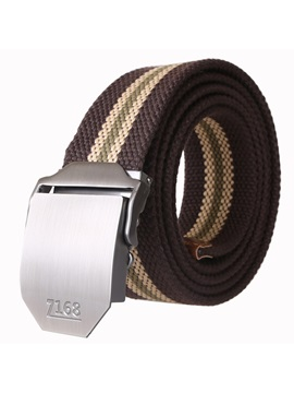Canvas Alloy Buckle Men Belt