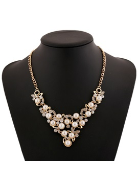Alloy With Pearls E Plating Women Necklace