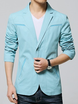 Notched Collar Slim Fit Mens Casual Blazer