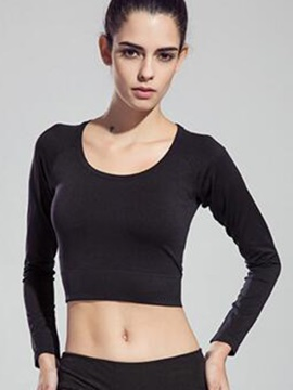Solid Color Back Keyhole Women Cropped Top