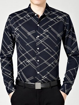 Stripe Design Mens Single Breasted Shirt