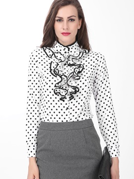 Falbala Polka Dots Work Blouse