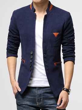 Peaked Lapel Single Breasted Mens Slim Fit Blazer