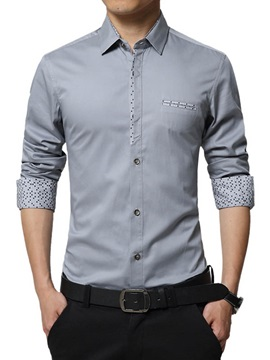 Front Pocket Single Breasted Mens Casual Shirt