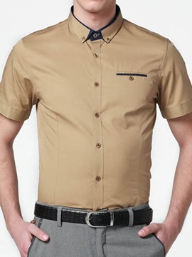 Faux Pocket Single Breasted Mens Casual Shirt