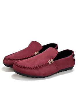 Solid Color Thread Slip On Driving Loafers