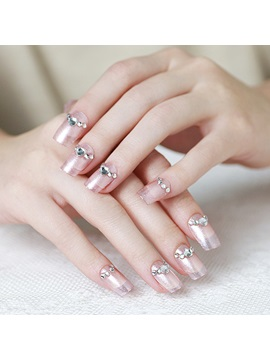 Rhinestone Decoration French Style Nail Art Patch