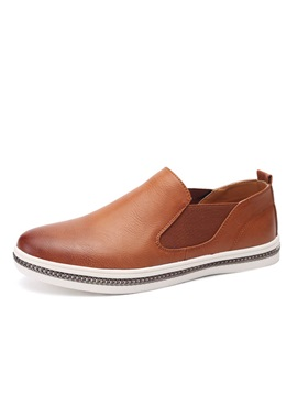 British Round Toe Elastic Band Loafers
