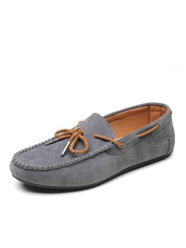 Cozy Solid Color Suede Driving Shoes