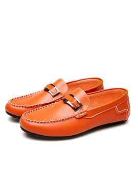 Pu Thread Slip On Casual Shoes For Men