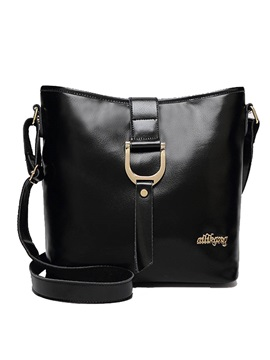 Pu Zipper Thread Women Shoulder Bag