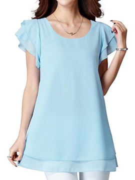 Stylish Double Layer Sleeves Blouse