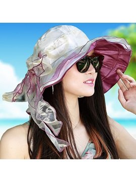 Casual Rolled Brim Sun Hat For Women