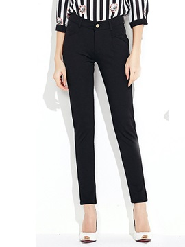 Simple Stretchy Straight Leg Pant