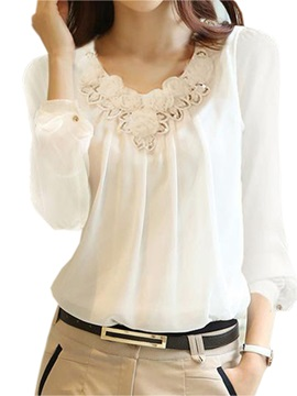 Special Flower Decoration Short Blouse