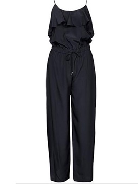 Vogue Strap Ruffles Loose Fit Jumpsuit