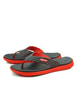 Color Block Thong Flip Flops