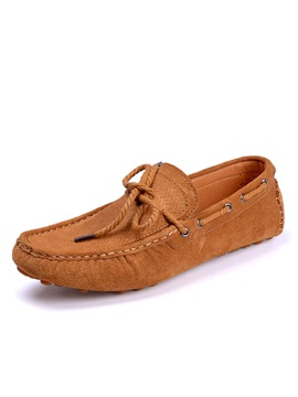 Breathable Suede Slip On Driving Shoes