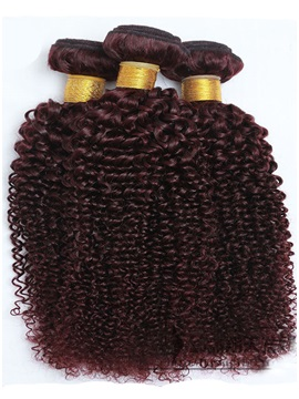 Curly 99j Human Hair Weave 1pc