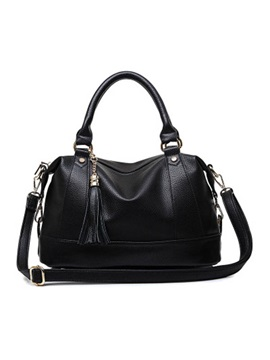 Zip Tassel Solid Women Satchel