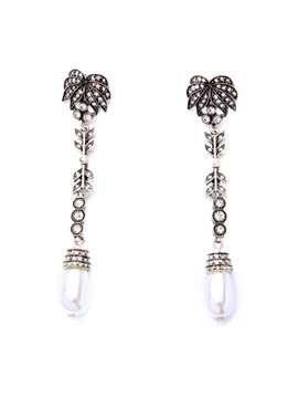 Vintage Style Rhinestones Pearls Women Earrings