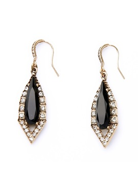 Vintage Style Rhinestones Women Earrings
