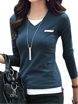 Casual Double Layer Slim T Shirt