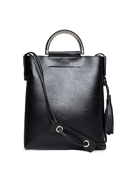Zipper Chic Tassel Women Tote Bag