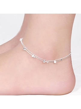 925 Silver E Plating Women Anklet