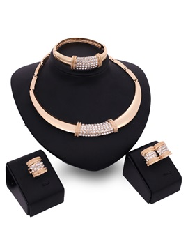 Rhinestones Stylish Fashion Women Jewelry Set