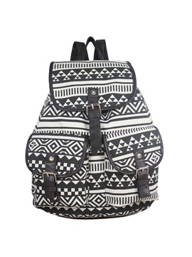 Casual Canvas With Pattern Backpack