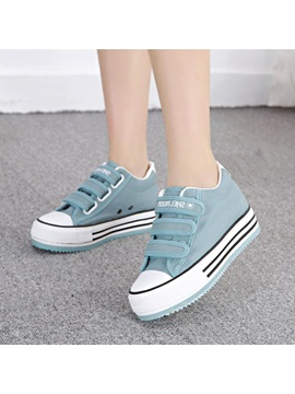 Solid Color Velcro Canvas Shoes