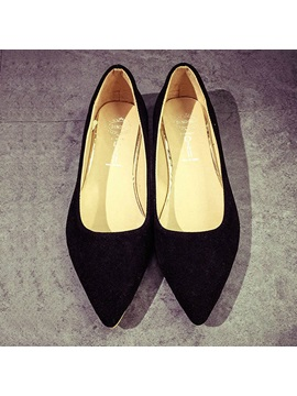 Solid Color Pointed Toe Flats