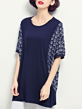 Stylish Batwing Sleeve Loose T Shirt