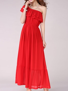 Solid Empire Waist Slim Maxi Dress