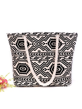 Top Quality Canvas Pattern Women Tote Bag