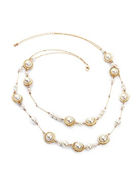 Hot Sale Alloy With Pearls Women Necklace