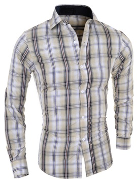 Colorful Stripe Slim Fit Mens Casual Shirt