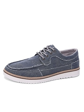 Breathable Lace Up Canvas Shoes