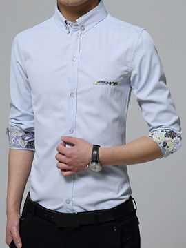Regular Fit Floral Printed Mens Casual Shirt