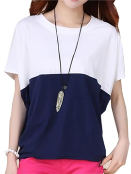 Pleasant Assorted Color Batwing Sleeve T Shirt