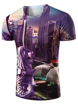 City View Printed Short Sleeve Mens Tee