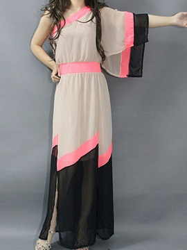 Contrast One Shoulder Dress